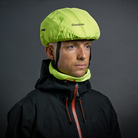 GripGrab Waterproof Hi-Vis Helmet Cover Fluo Yellow